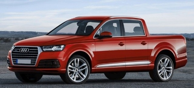 2019 Audi Q7 Pickup Truck side view