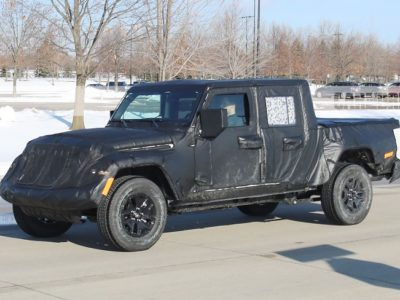 2020 Jeep Wrangler JT Pickup Truck spy shots