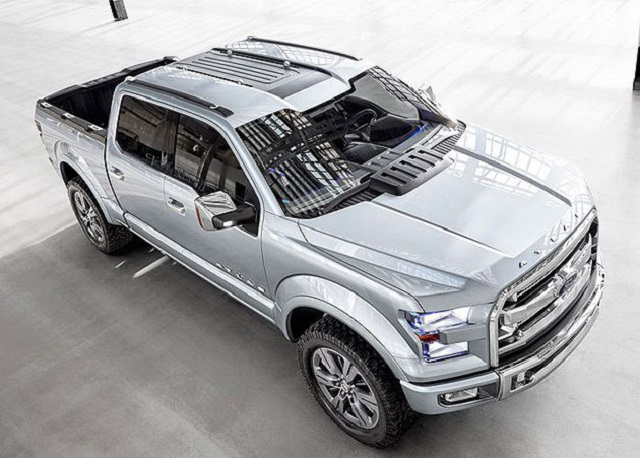 2019 Ford Atlas Pickup Truck Concept top view