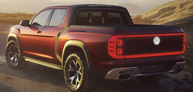 2019 VW Atlas Pickup Truck rear view