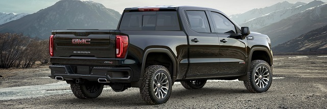 2019 GMC Sierra AT4 Off-Road Pickup Truck rear view