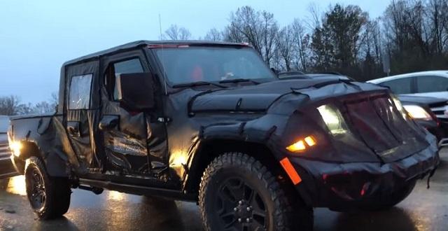 2019 Jeep Scrambler spy pics