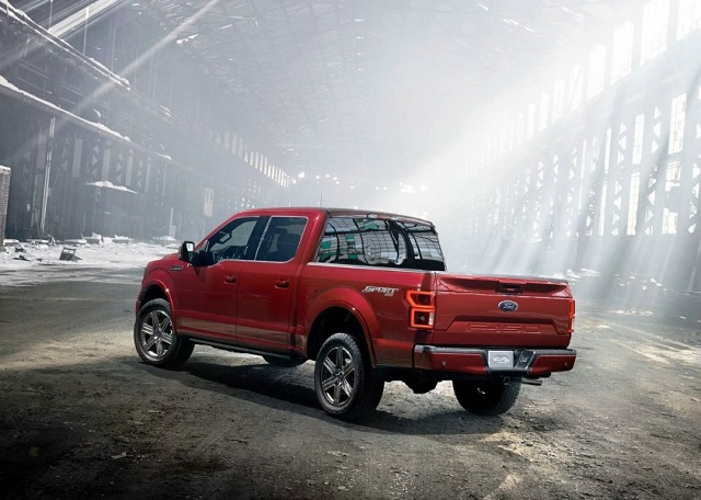 2020 Ford F-150 hybrid rear view