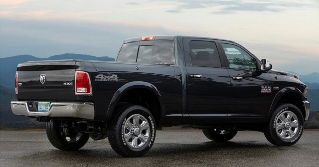 2020 Ram 3500 Mega Cab rear view