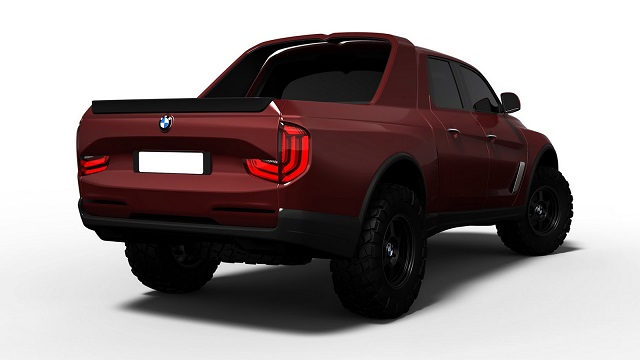 2020 BMW Pickup Truck rear view