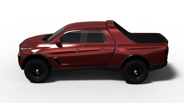 2020 BMW Pickup Truck side view