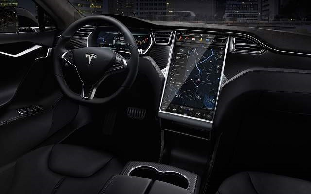 2020 Tesla Model T Electric Pickup Truck interior