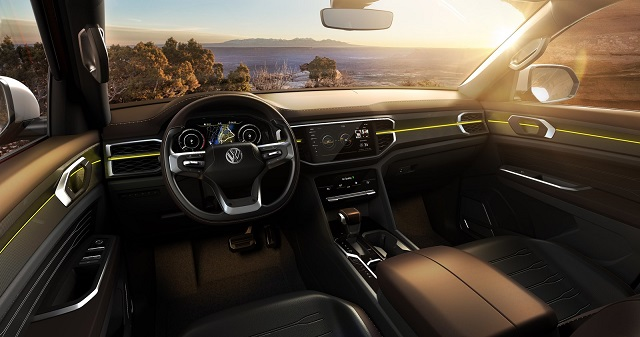 2020 VW Atlas Tanoak interior