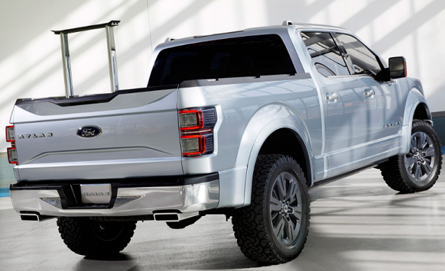 2020 Ford Atlas rear view
