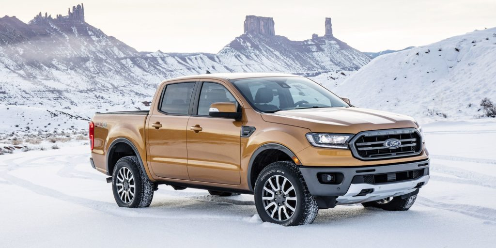 2020 Ford Ranger side view
