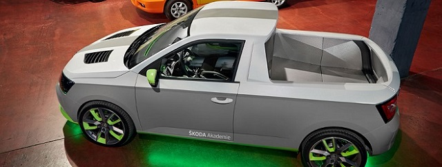 Skoda Pickup Truck Concept top view