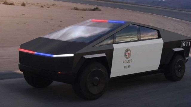 Tesla Cybertruck Police