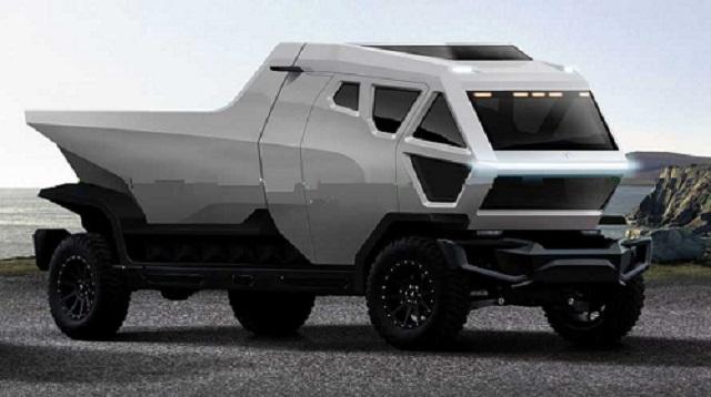 Tesla Pickup Truck Rendering