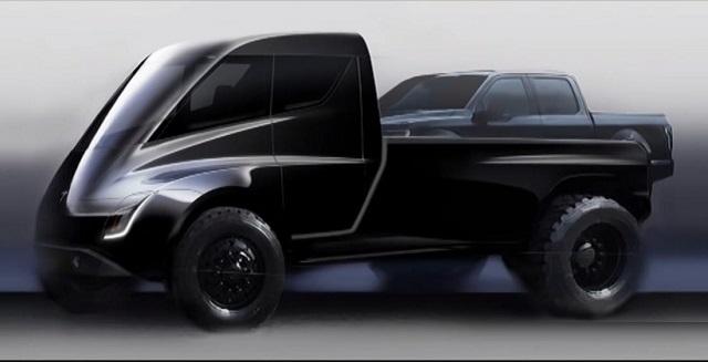 Tesla Pickup Truck drawing