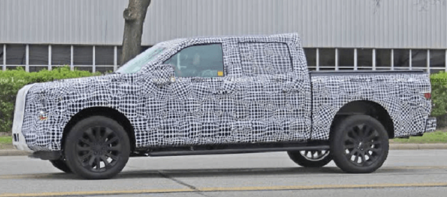 2021 Ford F-150 Hybrid Spy Shot