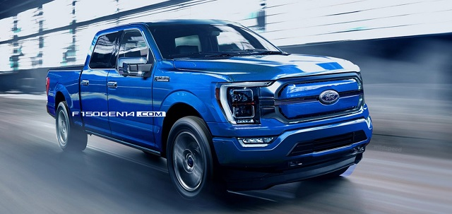 2022 Ford F-150 Electric Rendering