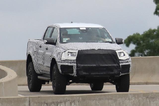 2022 Ford Ranger Raptor spy shot