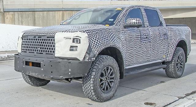 2023 Ford Ranger Raptor spy shot